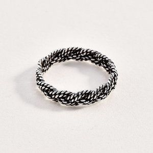 Sterling 925 Braided Ring
